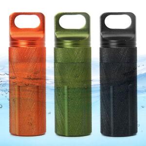Aluminium Alloy Survival EDC Waterproof Capsule Seal Bottle Case Container Holde