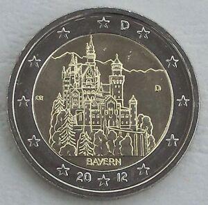 2 Euro Deutschland D 2012 Neuschwanstein Bayern Unz Ebay