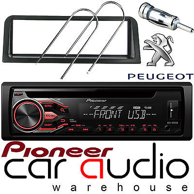 Audi A4 DEH-1800UB CD MP3 USB Car Stereo Player Red Display /& S//Din Fitting Kit