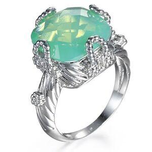 women fashion jewelry 925 silver green jade wedding. Black Bedroom Furniture Sets. Home Design Ideas