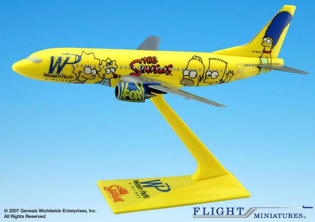 Die Simpsons Boeing 737-800 1:200 NEU B737 Homer Bart Western Pacific The N949WP