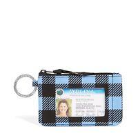 Vera Bradley Zip ID Keychain Case (Alpine Check)