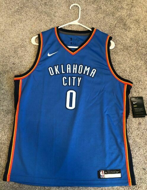 Nike Oklahoma City Thunder Russell Westbrook Jersey Size XXL