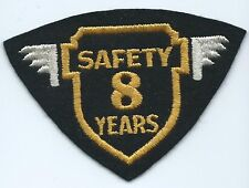 Greyhound Bus, driver patch, 8 Safety years felt cheesecloth back 3 X 4-1/4