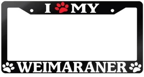 PAW MY WEIMARANER Auto Accessory 600 Glossy Black License Plate Frame I