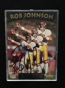 ROB-JOHNSON-1995-SIGNATURE-ROOKIES-AUTOGRAPHED-SIGNED-AUTO-FOOTBALL-CARD-9-USC