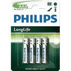 AAA Philips Alkaline Long Life R03 Micro 1.5v Batteries