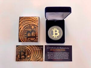 Bitcoin-Physical-Cutout-Coin-24K-Gold-Plated-With-Case-w-COA