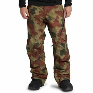Ak Burton Cyclic Gore-Tex Men's Ski Pants Snowboard Camoflauge Camo Camouflage