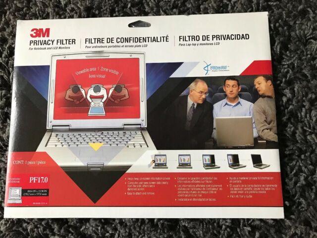 3M Black Screen Privacy Filter for Laptops 17 inch Standard 5:4 PF17.0 V25T