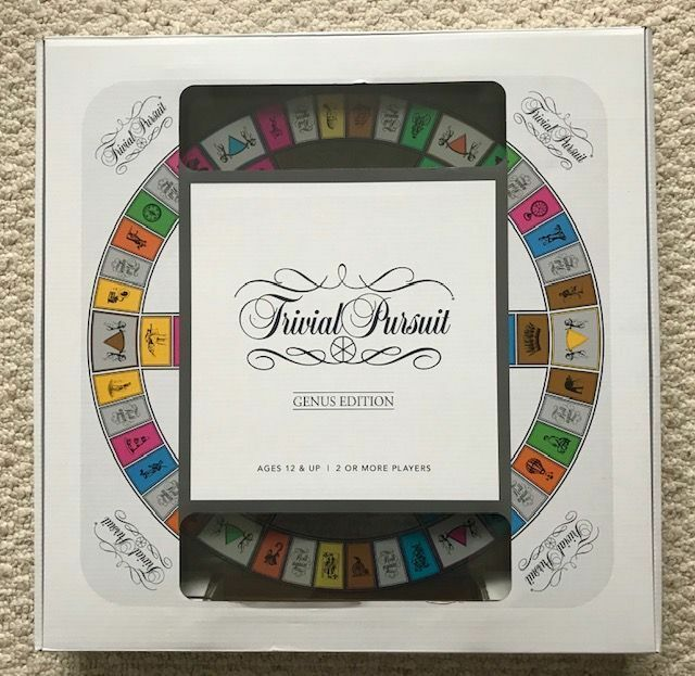 Trivial Pursuit Genus Edition Temperosso Glass Game Board - Brand New