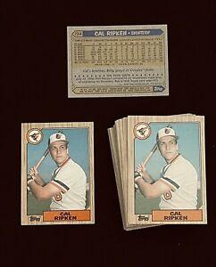 Lot of 2 Cal Ripken Jr. 1987 Topps Set Baseball Card #784 * PACK FRESH MINT *