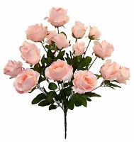 18 Pink Roses Large Reception Centerpieces Long Stem Tall Silk Wedding Flowers