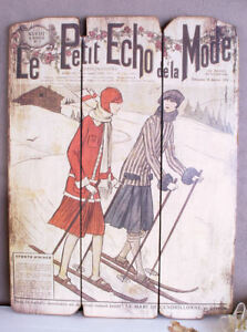 Streng Wandbild St Moritz Skiläufer Art Deco Bild Femme Fatale Vintage Wanddeko Antik Bilder & Drucke 1920-1949, Art Déco