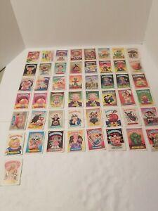 VINTAGE-1985-86-Garbage-Pail-Kids-49-Card-Lot-Rare-Cards-Galore-Throughout