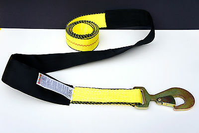 Pack of 2 Wheel Lift Repo Crossover Strap 2 x10 Tow Truck Ratchet Tie Down