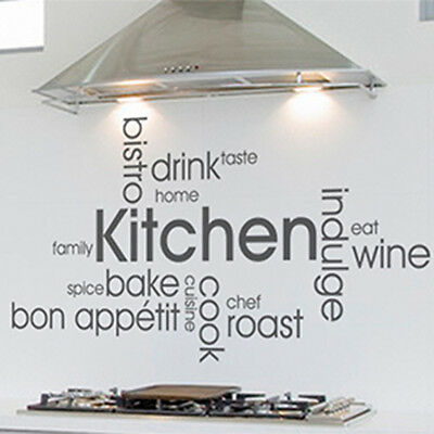Kitchen Wall Art Quote, Wall Sticker, Decal, Modern Transfer