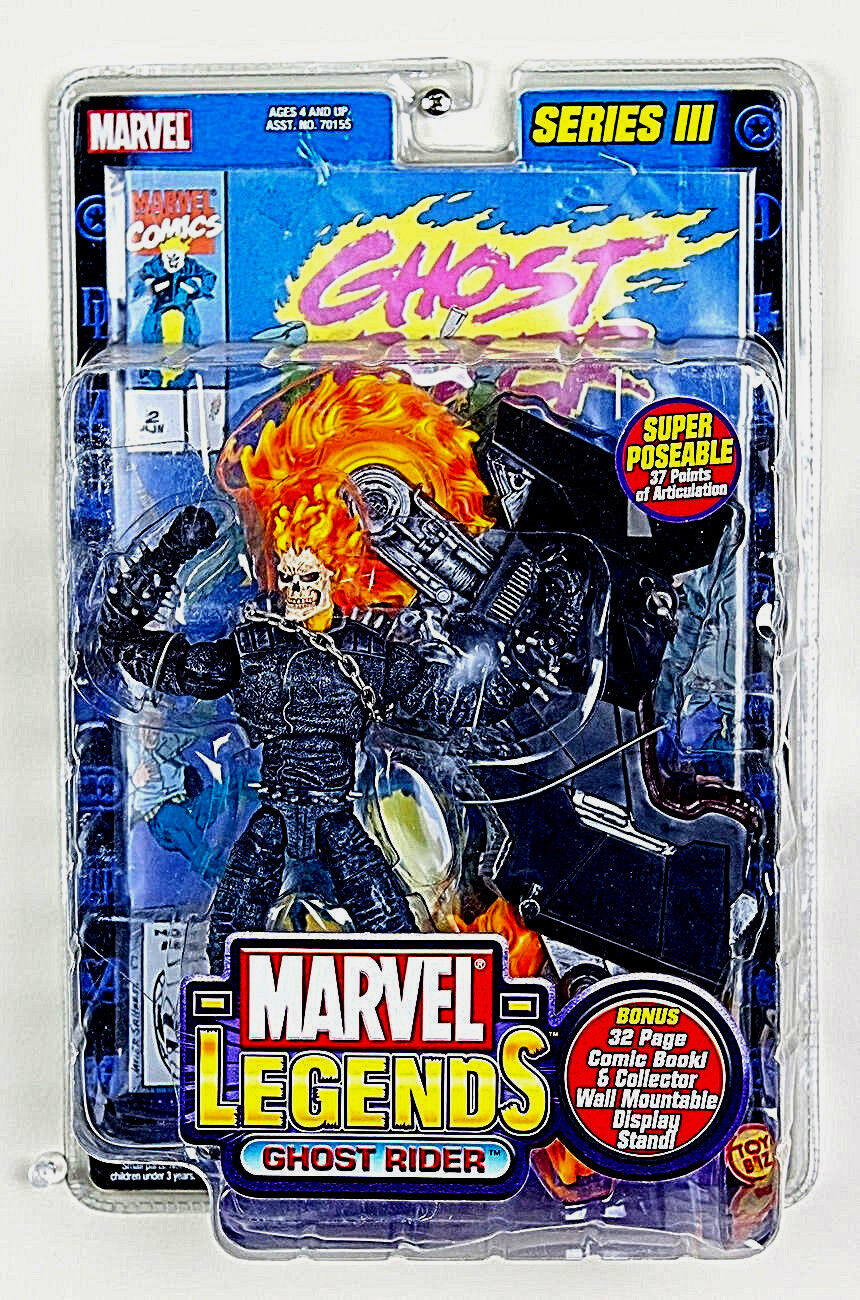 MARVEL LEGENDS Collection_GHOST RIDER 6 inch action figure_Series _ToyBiz_MIP