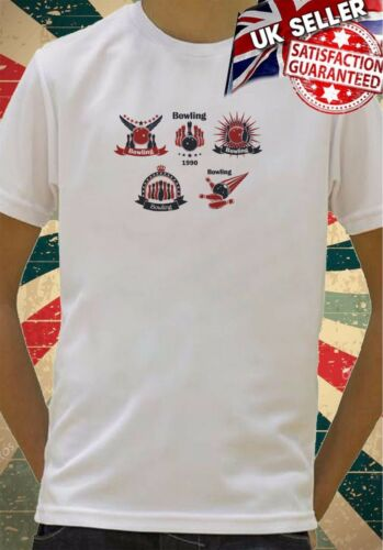 Black and red bowling symbols and icons Boys Girls Birthday gift Top T shirt 374
