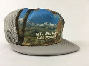 Image is loading Vintage-Mt-Whitney-California-Snapback-Trucker-Hat-Cap- f55b674aa2fb