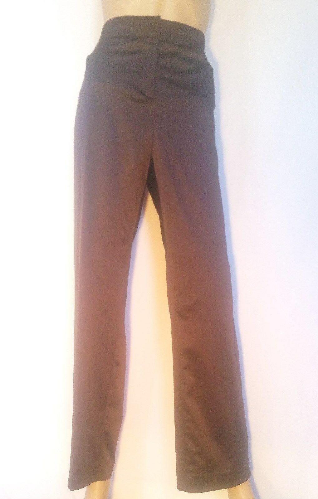 NEW Marina Rinaldi Sport GlossyWaistbandClassic BROWN Pants PLUS Size 16