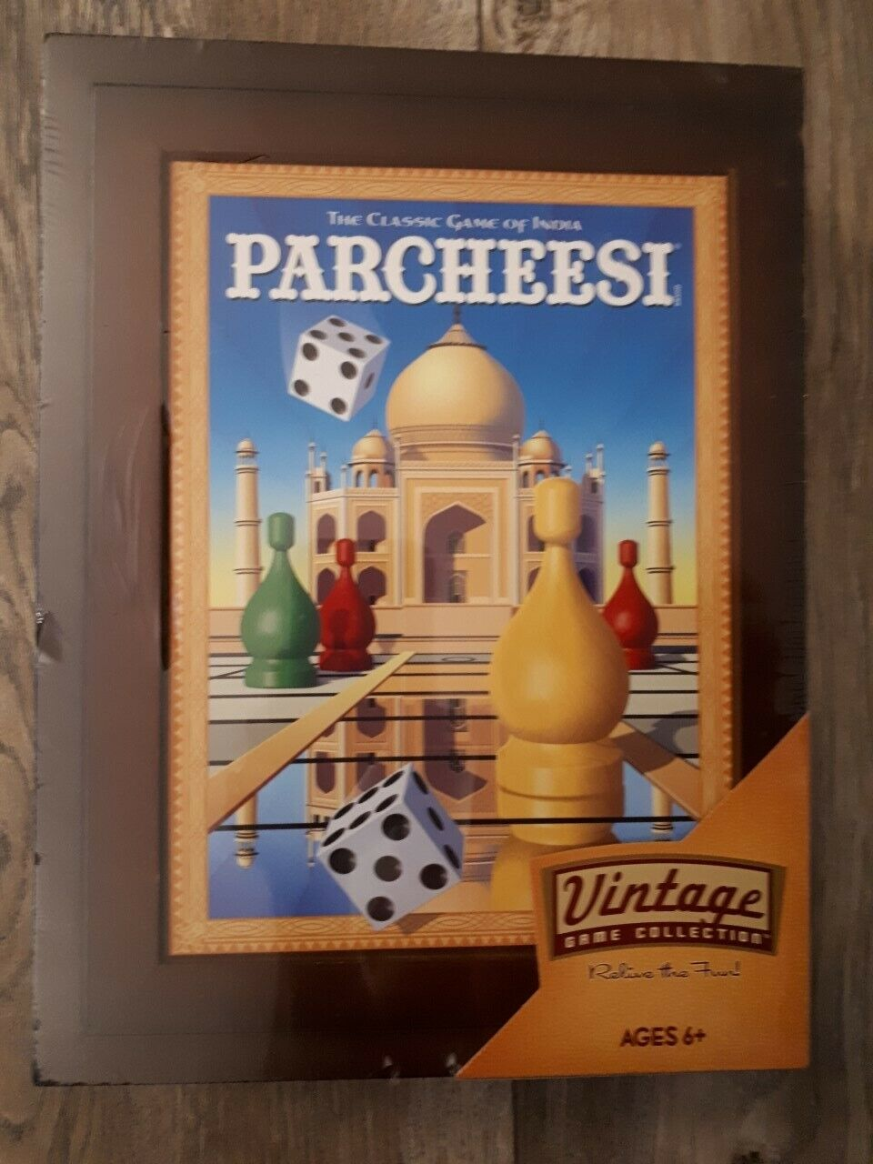 New PARCHEESI Board Game, Vintage collection with wooden case ,factory sealed