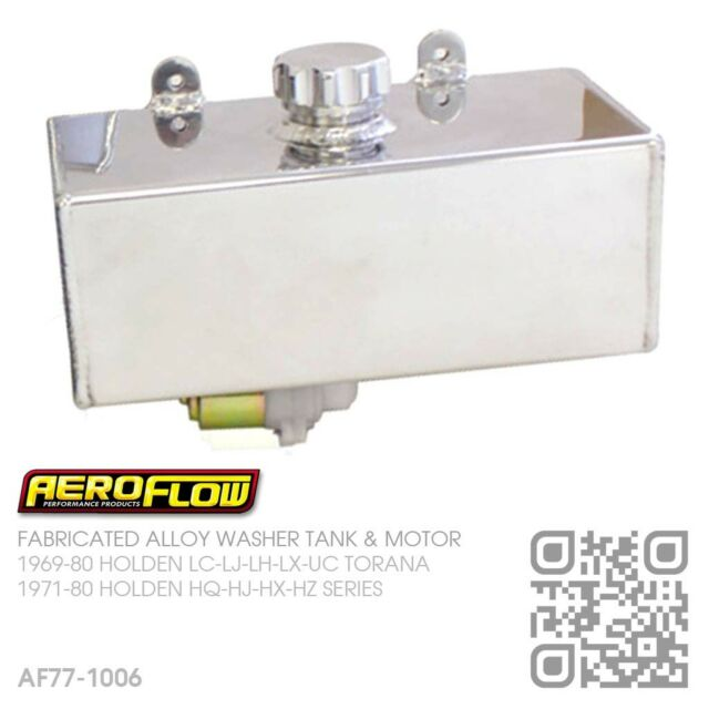 AEROFLOW FABRICATED ALLOY WASHER TANK & MOTOR [HOLDEN HQ-HJ-HX-HZ MONARO/GTS]