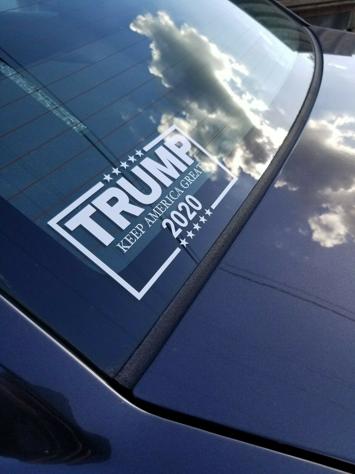 Dogs For Trump Decal White Vinyl Bumper Sticker Make Keep America Great