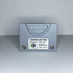 N64 Controller Pak - NUS-004 - Nintendo 64 Memory Card 256 KB - FREE Shipping