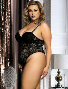 Push-up-Crochet-Lace-Teddy-Black-Plus-Size-14-to-22