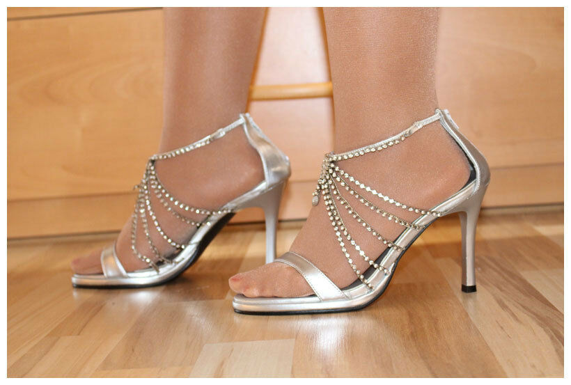High Heels Sandaletten Gr. 36 US6 (#2143) Funtasma by Pleaser silberfarben (#2143) US6 9f4951