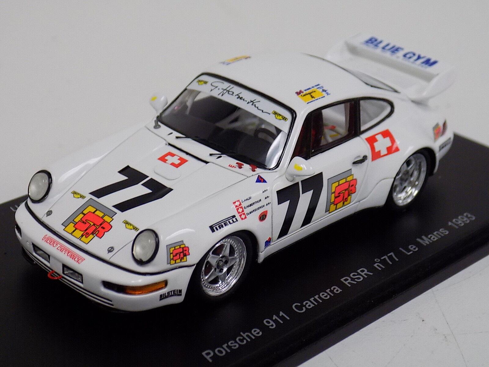1 43 SPARK PORSCHE 911 CARRERA RSR Voiture  77 de 1993 24 H LeMans S2079