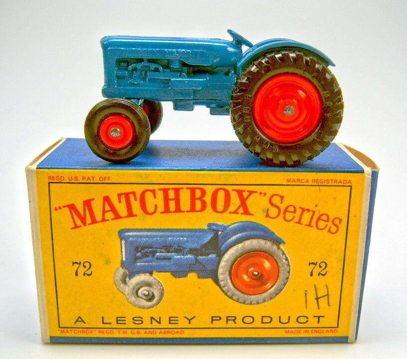 Matchbox RW 72 a Fordson Tractor bleu Orange jantes Top Dans Box