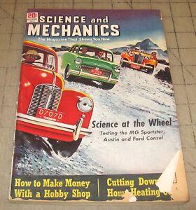 SCIENCE and MECHANICS (Dec 1951) Fair Condition Magazine - MG AUSTIN Car Cover