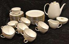 Vintage Eschenbach Bavaria Coffee/Te Set Cream Color Gold Rim 38 Pieces