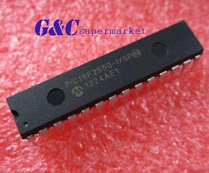 5PCS PIC18F2550-I/SP PIC18F2550 IC PIC MCU FLASH 16KX16 28SDIP NEW