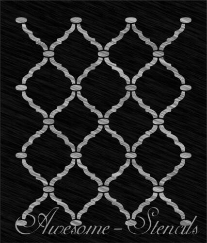 Reusable Wall Stencil Pattern Moroccan Trellis  *Choose size hole* Large scale