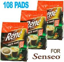 Philips Senseo 108 x Cafe Rene Cremé Dark Roast Coffee Pads Bags Pods