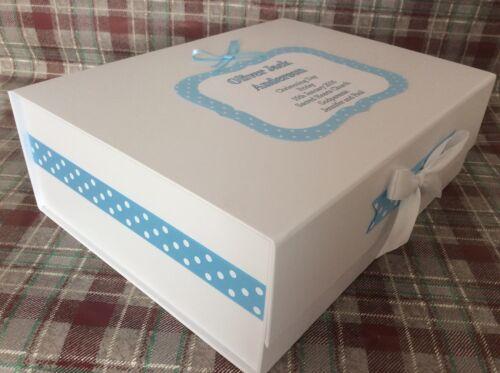 Extra Large Personalised New Baby Boy Keepsake Memory Box Christening Gift