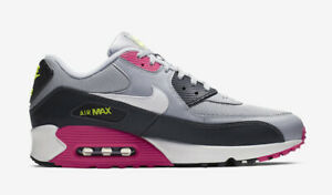 the latest d0606 71bf0 Details about Nike Air Max 90 Essential Neon Accents Gray Pink Black Grey  AJ1285-020 Mens Size