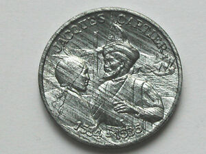 Jacques-CARTIER-St-Lawrence-Explorer-1534-1535-QUEBEC-Medal-Toned-Lustre-Zinc