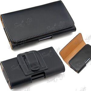 Cuero-Artificial-tapa-magnetica-clip-cinturon-cintura-Funda-Funda-para-Samsung
