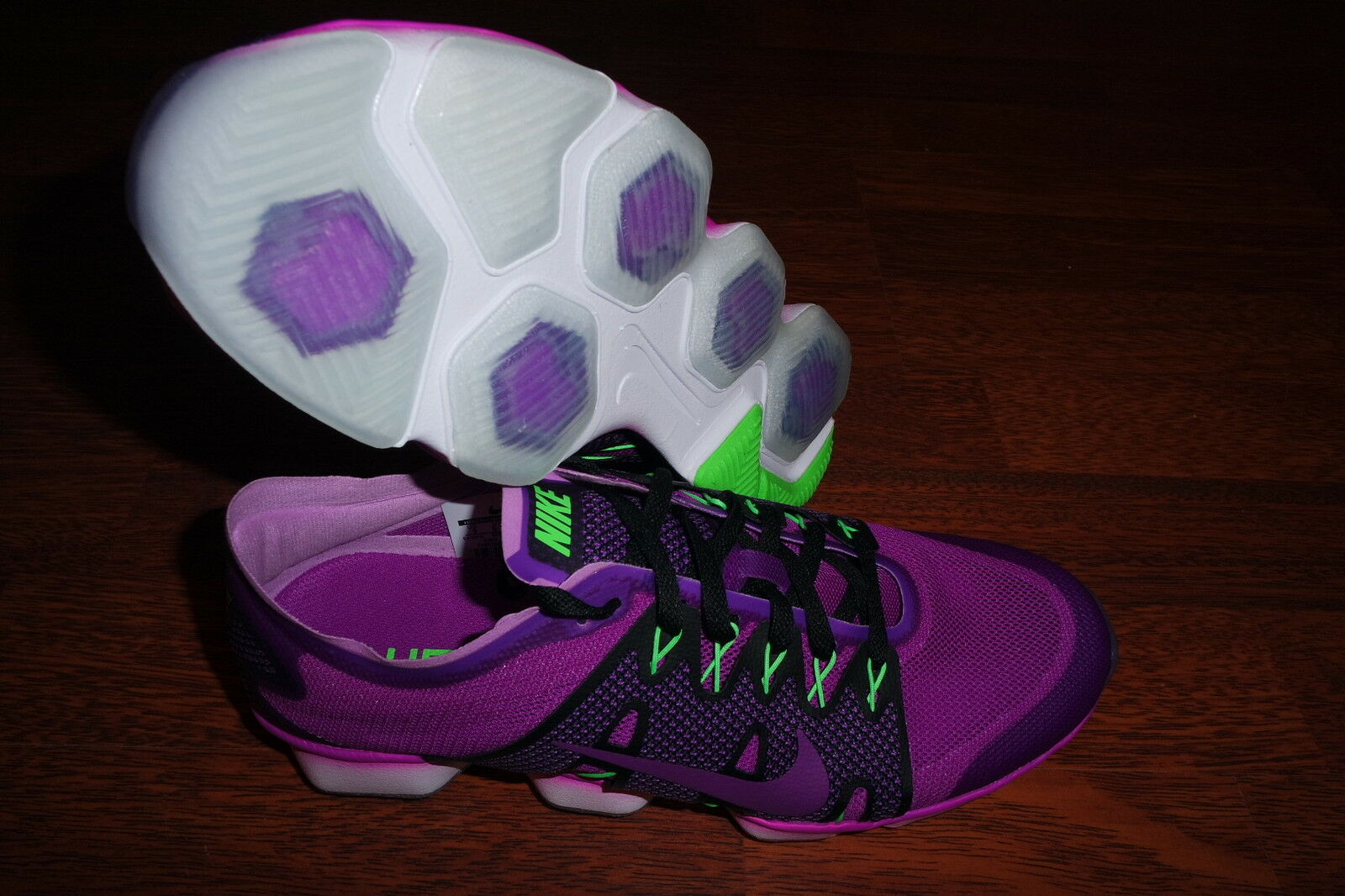 femmes  Nike Air Zoom Fit Agility 2 PURPLE Fitness Training Chaussures 806472 500 SZ 9