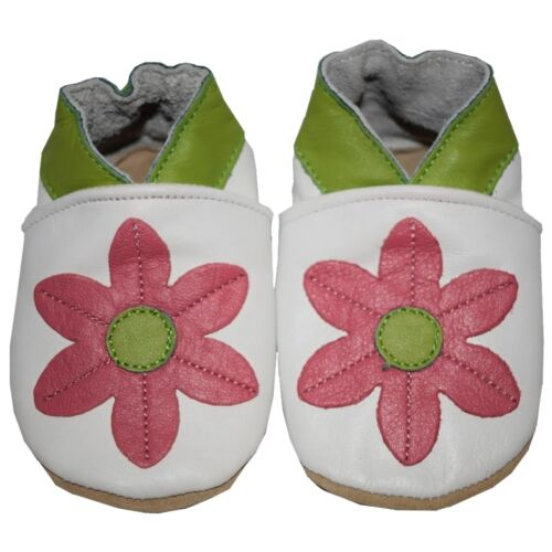 SOFT LEATHER BABY SHOES PRAM GIRLS BOYS 0-6,6-12,12-18,18-24 MONTHS CC