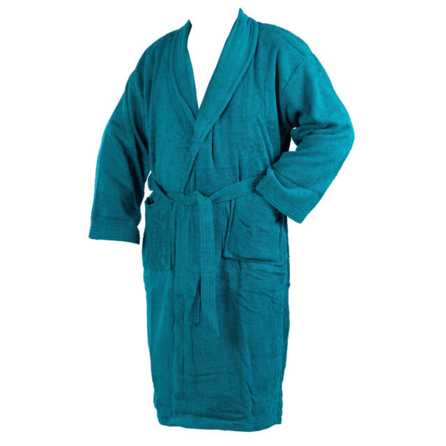 a6a810070e Dressing Gown 100 Cotton Terry Towelling Mens Womens Wrap Style ...