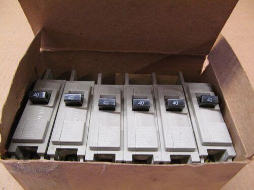 6 NIB I-T-E ITE SIEMENS HB1B040 HBQ CIRCUIT BREAKER 1P 40A 240V 40 AMP BOX OF 6