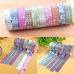 DIY-de-Washi-10Stk-Crafts-cinta-cinta-Album-de-recortes-Reispapierkor