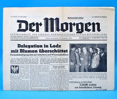 Der Morgen 13. Dezember 1958 Zum 61. Geburtstag Hochzeit 13.12.1958 Ddr Verkaufsrabatt 50-70%