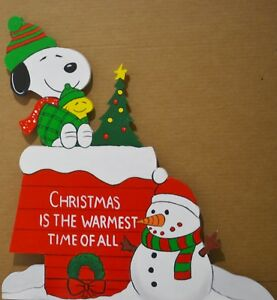 Snoopy And Woodstock Christmas Images.Details About Lawn Signs Lawn Stakes Snoopy Woodstock Christmas Snowman Dog House Yard Art