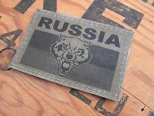 SNAKE PATCH - RUSSIA - KAKI OD - tête de loup RUSSIE FBS CCCP URSS KGB FANTAISIE